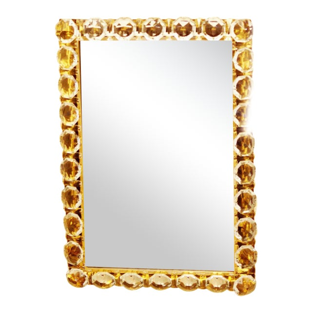 Vintage crystal mirror by Bakalowits & Sohne For Sale