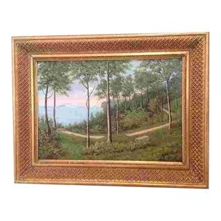C. 1900 Danish Oil Painting For Sale