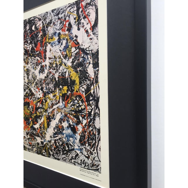 """Jackson Pollock Rare Vintage 1964 Mid Century Modern Framed Abstract Expressionist Lithograph Print """" Convergence """" 1952 For Sale - Image 10 of 13"""