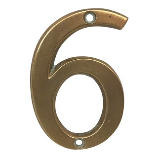 Vintage Brass Number 6/9 House Number For Sale