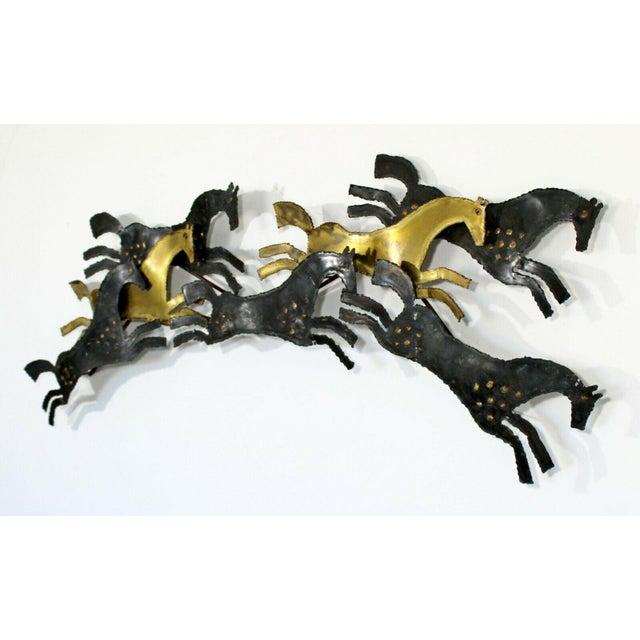 Modern 1960s Mid Century Modern Brutalist Hammered Metal Horse Wall Art Sculpture For Sale - Image 3 of 8