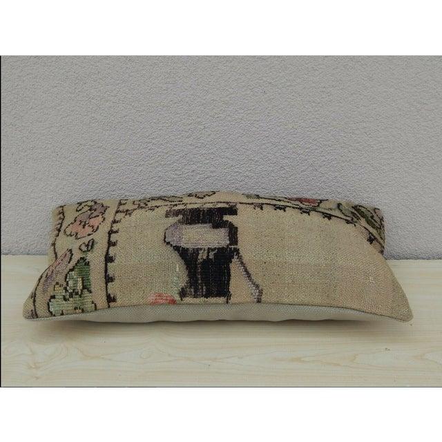 Turkish Turkish Lumbar Aubusson Kilim Pillow For Sale - Image 3 of 5