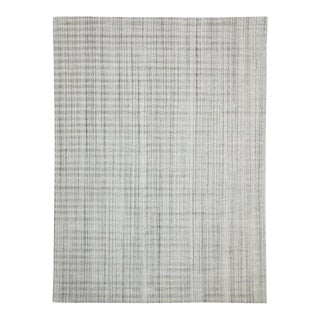 Contemporary Gray Area Rug - 8′11″ × 12′ For Sale