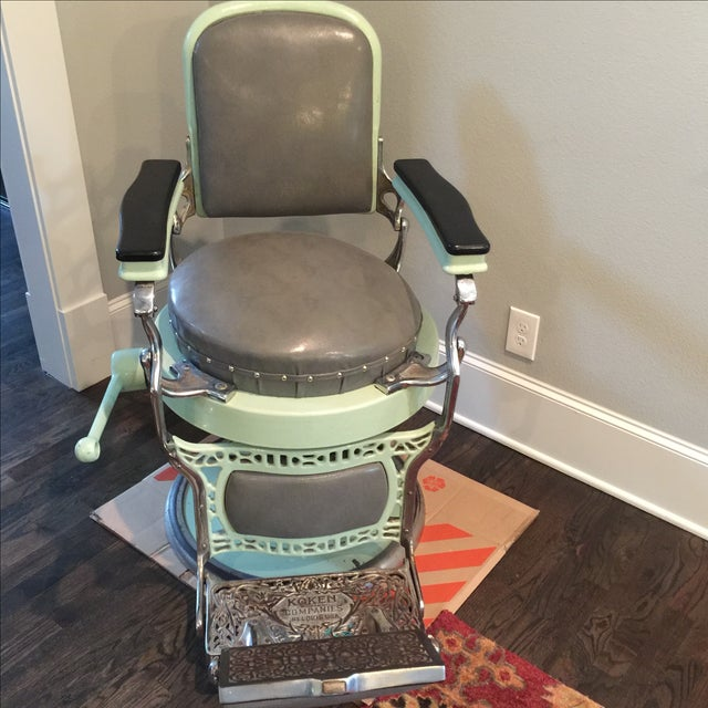 Antique Koken Barber Chair - Image 4 of 10