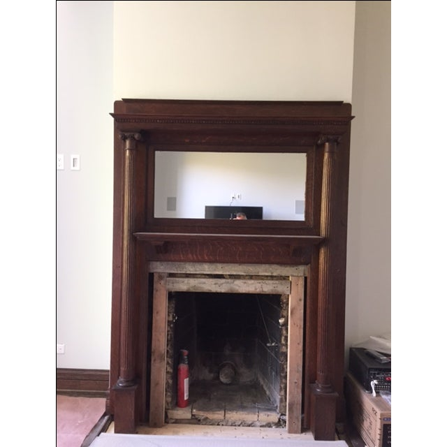 American Victorian Fireplace Mantel - Image 6 of 6