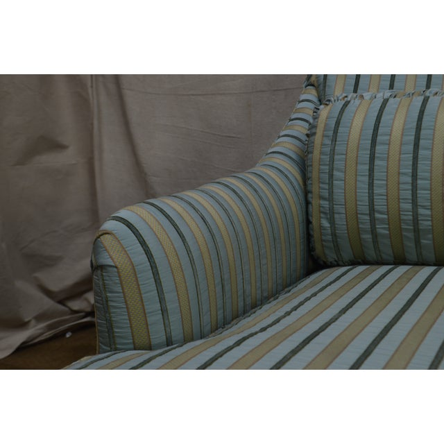 Textile Cox Quality Upholstered Recamier Chaise Lounge For Sale - Image 7 of 12