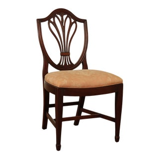 Hepplewhite Style Custom Mahogany Shield Back Side Chair For Sale