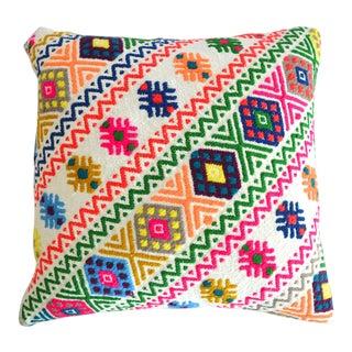 Hand Woven Kilim Pillow Cover Jajim Pattern 1. Class Cotton Pillow - 16″ X 16″ For Sale