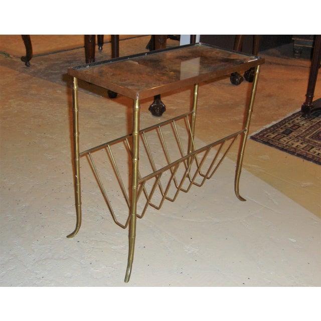 Jansen Style Bronze Bamboo Magazine Table - Image 4 of 9
