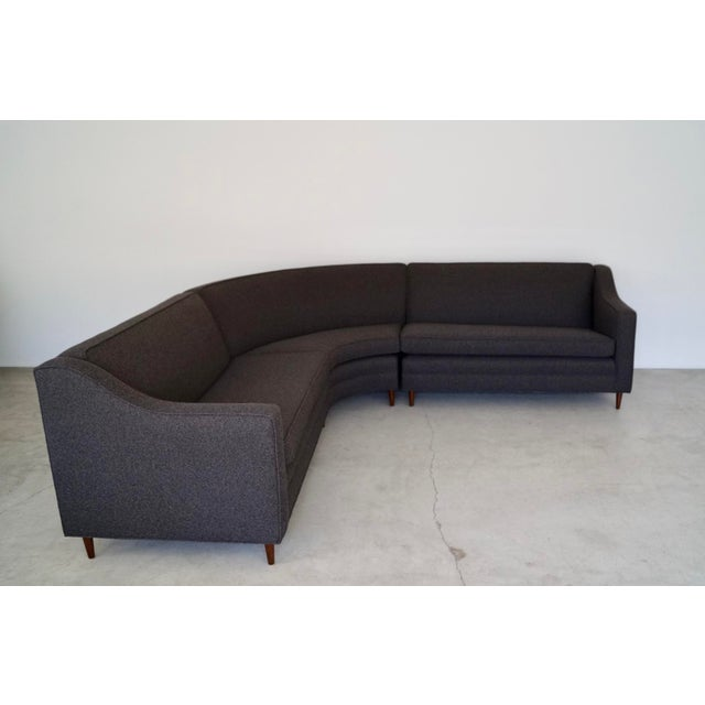 Mid-Century Modern Reupholstered 3-Piece Sectional Sofa For Sale - Image 13 of 13