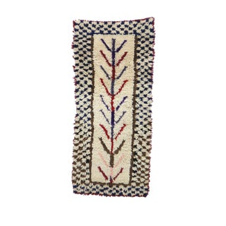 1980s Vintage Azilal Moroccan Rug - 2′8″ × 6′1″ For Sale