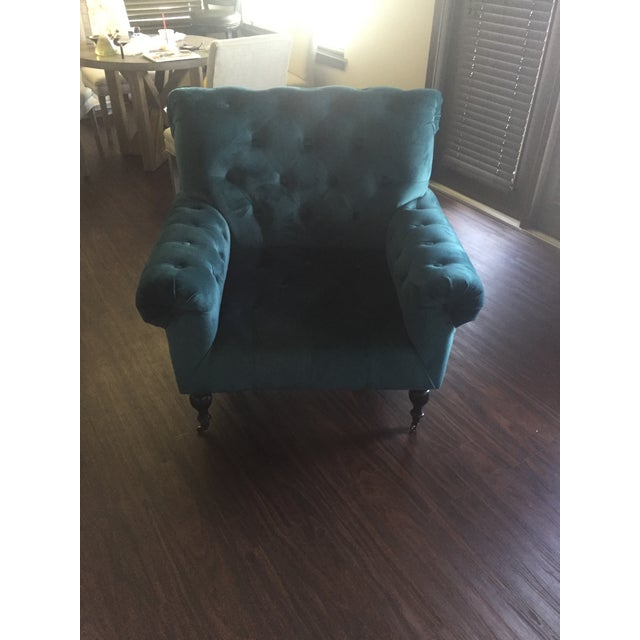 Magnolia Home Upholstered Teal Chair - Image 2 of 3