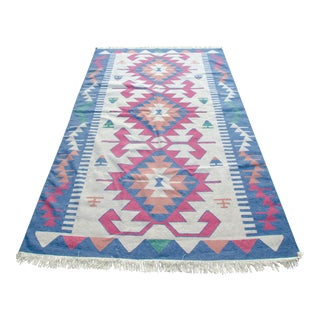 Tribal Wool Kilim Rug - 8′3″ × 11′3″ For Sale