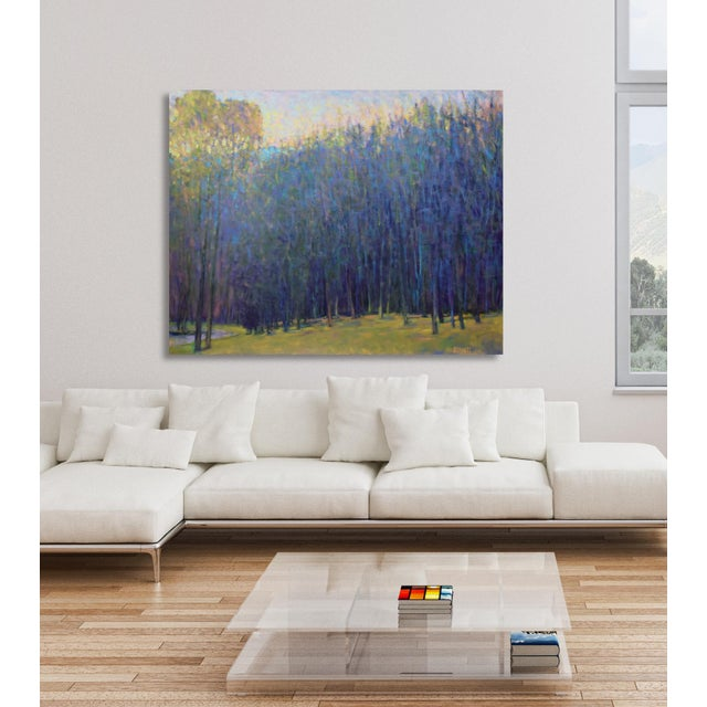 2010s Ken Elliott, 'At the Ponds Edge, Emerging Spring' Painting, 2017 For Sale - Image 5 of 7