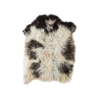 """Contemporary Natural Sheepskin Pelt - 2'0""""x2'10"""" For Sale"""