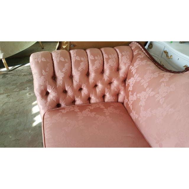 Antique Victorian Pink Loveseat Sofa - Image 5 of 6