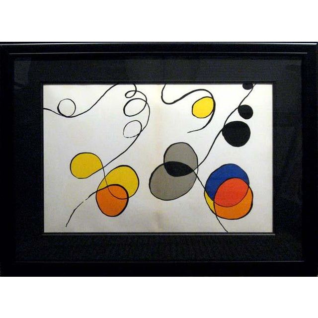 Alexander Calder Pop Art Alexander Calder Original Art Lithograph For Sale - Image 4 of 4