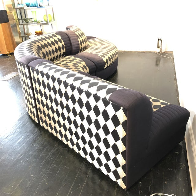1980s 1980s Vladimir Kagan Curved 5 Piece Sofa for Weiman For Sale - Image 5 of 13