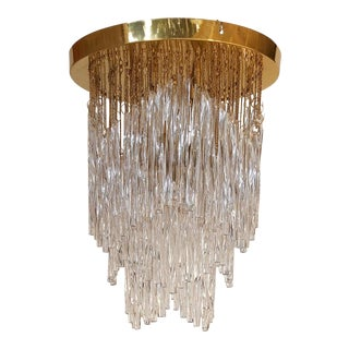 Vintage Mid-Century Murano Glass Chandelier Fixture For Sale