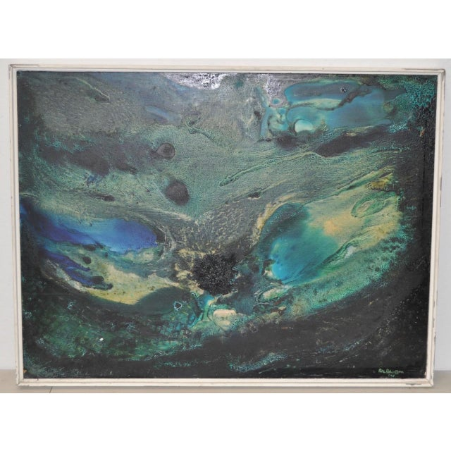 Mid-Century Modern Abstract Painting by Rita Robinson C.1961 For Sale - Image 9 of 11