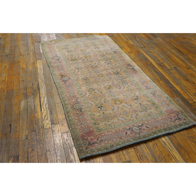 Traditional 1920s Vintage Cotton Agra Rug - 3'x6' For Sale - Image 3 of 7