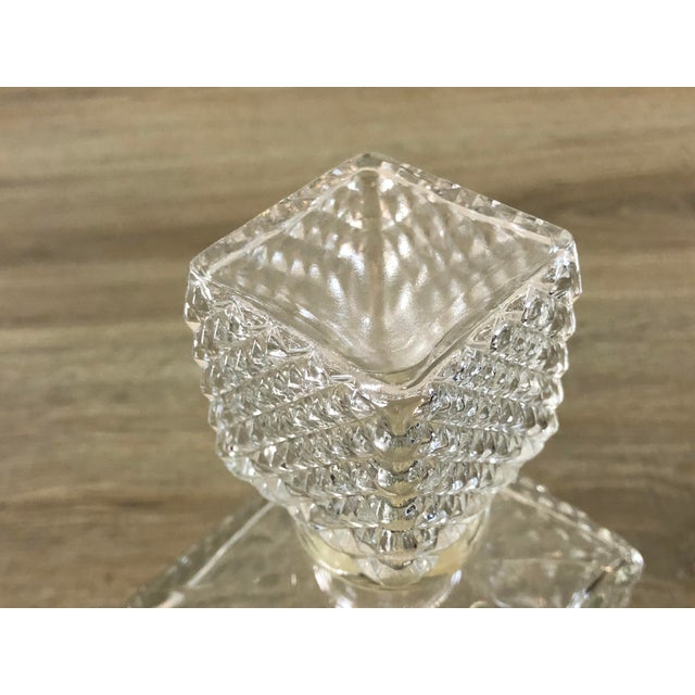 Vintage Diamond Point Glass Decanter For Sale In Boston - Image 6 of 10