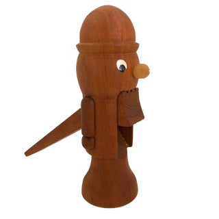 Mid-Century Figurative Wooden Nutcracker For Sale