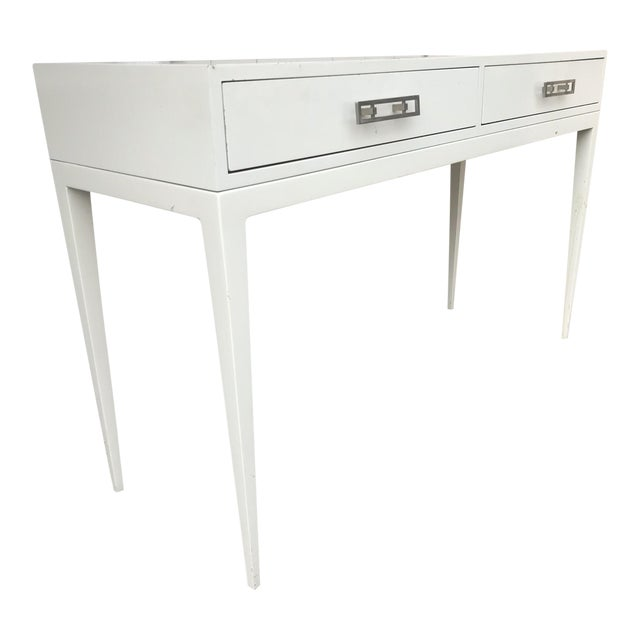 """""""Kelly"""" White Lacquered Console For Sale"""