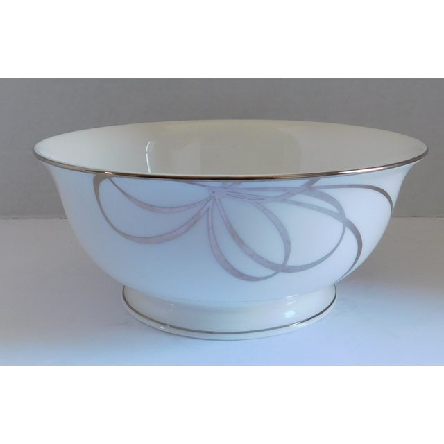 Contemporary Kate Spade Belle Boulevard/Lenox White Porcelain Bowl For Sale - Image 3 of 10