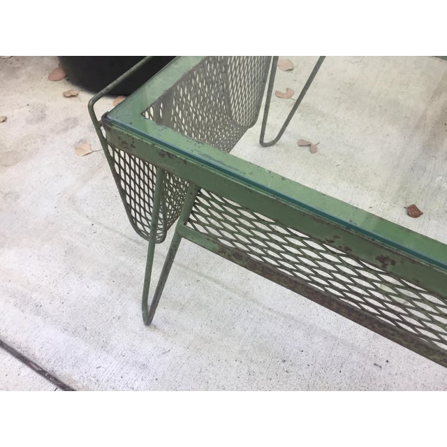 Unique Iron & Glass Mid-Century Modern Outdoor Indoor Patio Coffee Table For Sale - Image 9 of 12