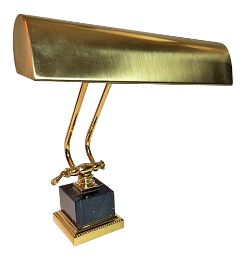 House Of Troy Brass U0026 Marble Adjustable Piano/Desk Lamp