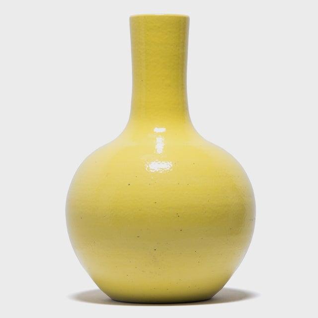 Ceramic Citron Gooseneck Vase For Sale - Image 7 of 7