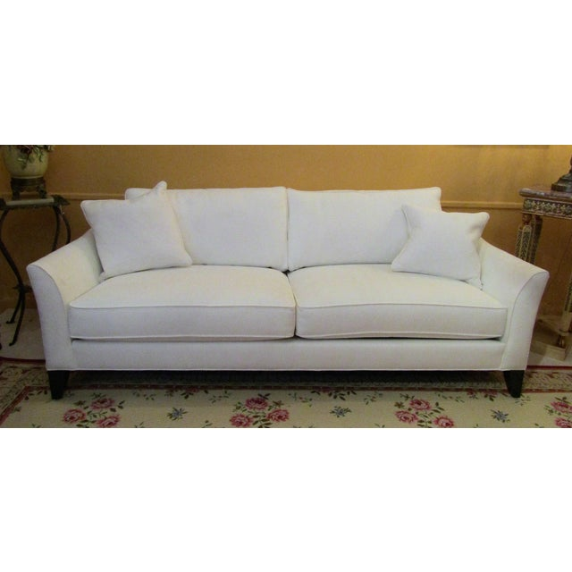 Ethan Allen Curved Back White Upholstered Sofa Chairish