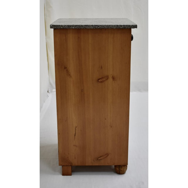 Early 20th Century Pine Marble Top Nightstand For Sale - Image 5 of 13