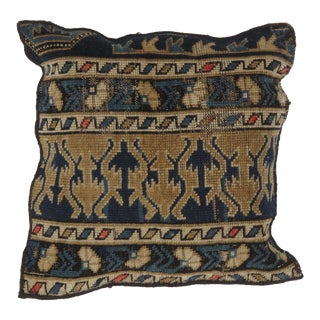 Antique Shirvan Rug Fragment Pillow For Sale