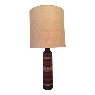 1960s Lotte and Gunnar Bostlund Table Lamp With Shade For Sale