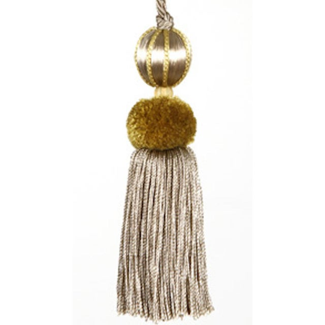 Boho Chic Beaded Key Tassel - H 4.5 Inches For Sale - Image 3 of 8