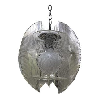 Vintage Lucite Swag String Pendant Lamp For Sale