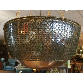 Arterior, Laura Kira Collection Hanging Chainmail Domed Round Mirror Pendant Lamp Preview