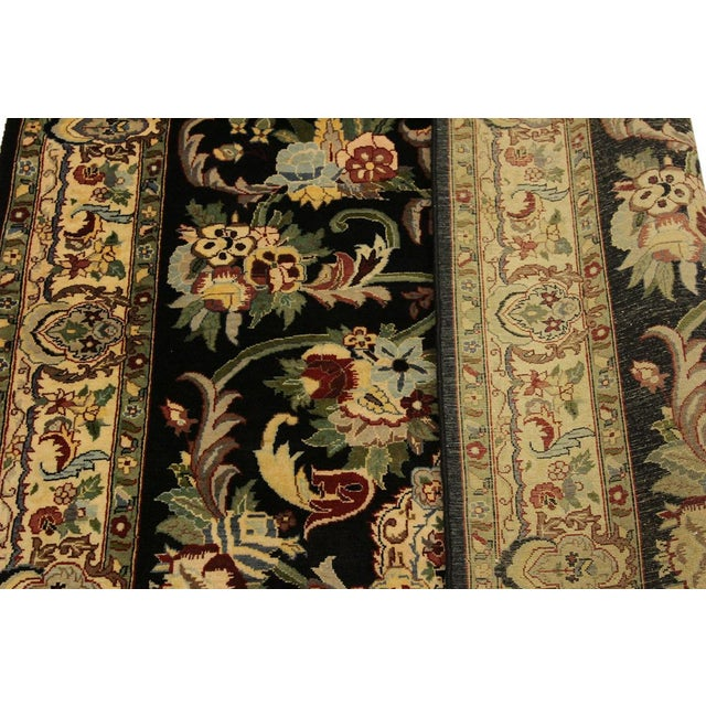 Anarkali Pak-Persian Eleanore Black/Ivory Wool Rug - 4'1 X 6'3 For Sale - Image 4 of 8