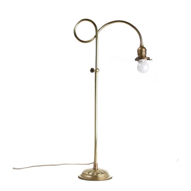 Brass Table Lamp W/ Milk Glass Globe - Image 7 of 10