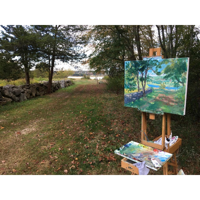 """""""River View"""" Contemporary Landscape AcrylicPainting by Stephen Remick, Framed For Sale - Image 9 of 10"""