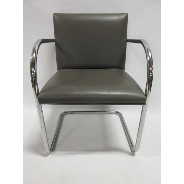 Mies Van der Rohe Mies Van Der Rohe Brno Guest Chair in Brown - a Pair For Sale - Image 4 of 10