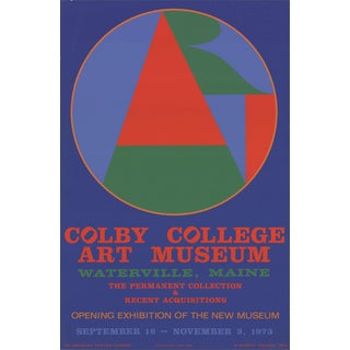 "Robert Indiana ""Colby College Art Musuem"" 1973 Serigraph For Sale"