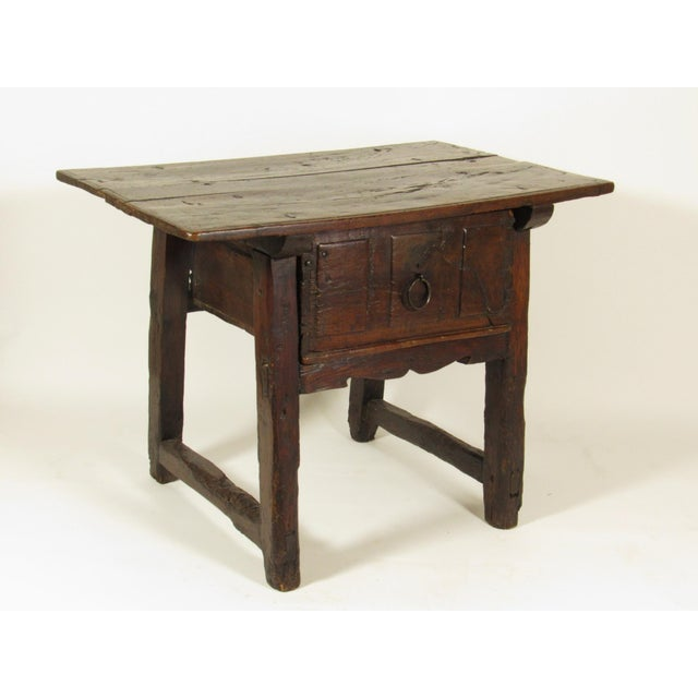 Baroque 17th C. Spanish Side Table For Sale - Image 3 of 7