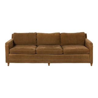 Mid-Century Danish Corduroy Sofa For Sale