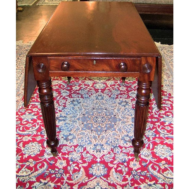 19c British William IV Mahogany Large Pembroke Table or Sofa Table For Sale In Dallas - Image 6 of 9