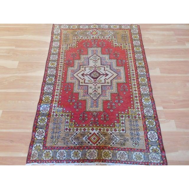 Vintage Turkish Oushak Rug - 4′ × 6′ For Sale - Image 5 of 5