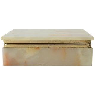 Modern Italian Onyx Marble Box For Sale