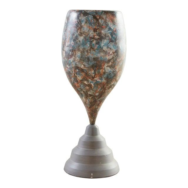 Postmodern Ceramic Floor Vase by Marvin Bjurlin For Sale
